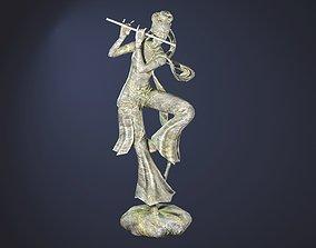 3D asset Chinese-Dancing-Girl-Statue