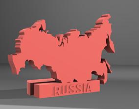 RUSSIA Map 3D print model