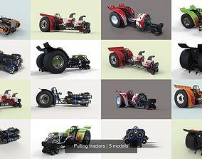 Pulling tractors 3D model
