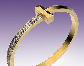 3D printable model Bracelet T Wide fashion