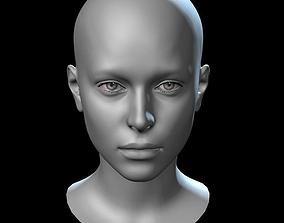 3D asset low-poly Female Head