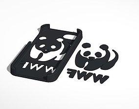 3D print model Iphone 5 WWF logo case
