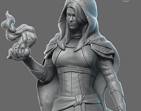 Witch miniature 75mm scale 3D printable model