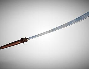 Thai Sword 3D asset