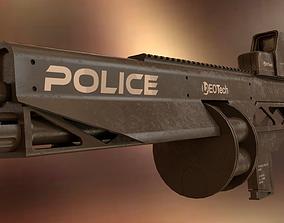Cyberpunk rifle 3D