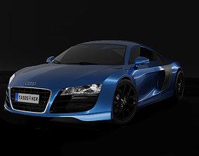 3D rigged Audi R8 V10 2008-2012