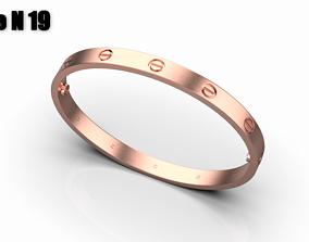 3D print model Cuban chain ring Size 19