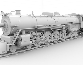 Steam locomotive 3D model old
