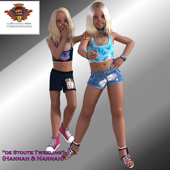 """De Stoute Tweeling"" (Hannah & Nannah) [The Naughty Twins]"