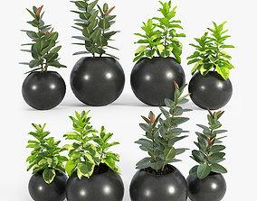 3D model Sphere Dark Grey Planter