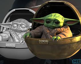 Mandalorian Baby Yoda 3D Print mandalorian