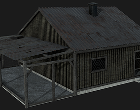 3D asset Wooden Village House