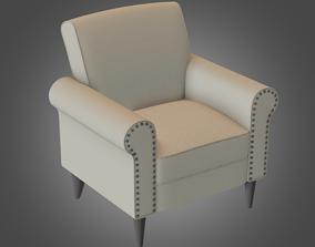 3D asset Armchair Cream Pbr Subdivision Ready