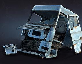 3D model Truck Cab Rusty