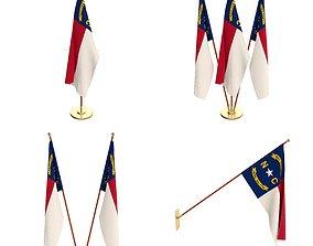 3D model North Carolina Flag Pack