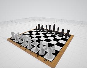 pawn 3D model Chess set