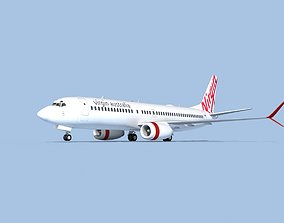 Boeing 737-800 Max Virgin Australia 3D
