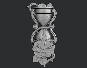 STL models for 3D printing and CNC Hourglass with rose