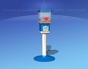 3D Commercial Gumball Machine