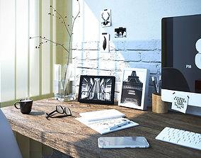 phone 3d interior scene office work space