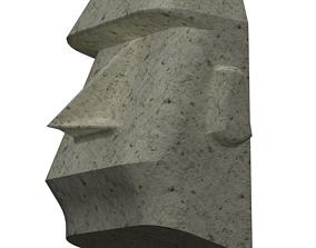 Moai Stone 3D model