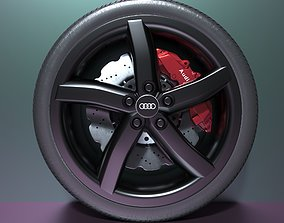 Audi Sport Whell and Rim 3D Model Ready For Render