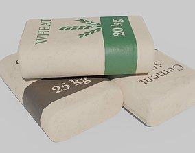 3D asset Cement Seeds Bags