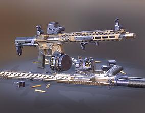 AR 15 Gun 3D model