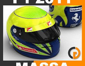 Helmet F1 2011 Felipe Massa 3D model