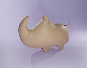 Free Cartoon Baby Rhino 3D