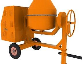 3D model Concrete Mixer Machine