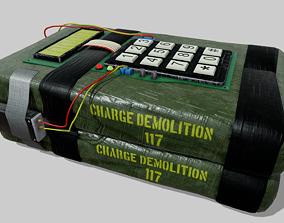 3D model C4 explosive device