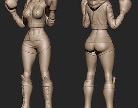 Girl boxer 3D printable model