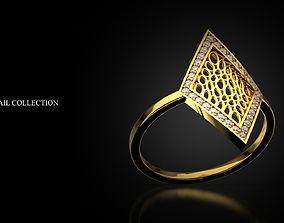 3D printable model Ring Rhomb