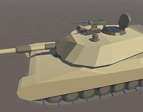 3D asset M1 Abrams Cartoon Style
