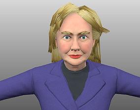 3D model Hillary Clinton low poly