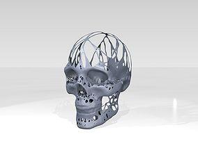 3D Skull Dust Voronoi
