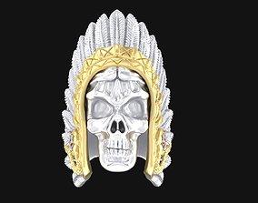 3D print model Ring Indian skull