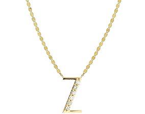 Alphabets Letter Z Pendant 3D printable model pendant
