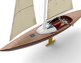Leonardo yacht Eagle 44 BROWN 3D model