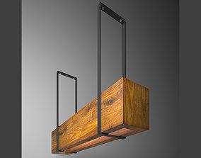 3D model wooden light