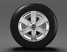 Hyundai H350 Van wheel 2017 3D