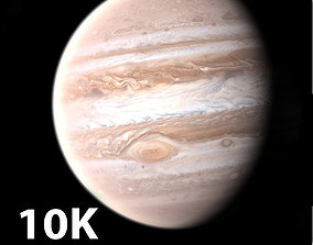 3D 10K Photorealistic Jupiter