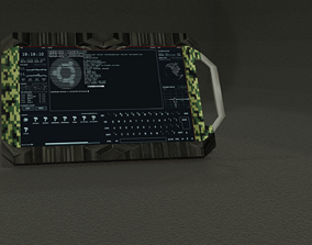 Sci-Fi Tablet 3D asset low-poly