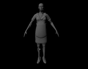 zombie waitress 3D model