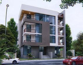 ultra modern residential house 3D