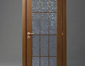 Wooden Door oak wood 3D model