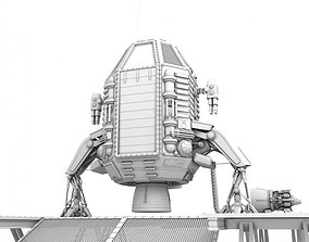 Capsule landing pod 3D