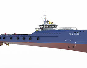 FAST CREW SUPPLIER VESSEL 3D