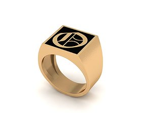 3D printable model Old English Letter Ring O